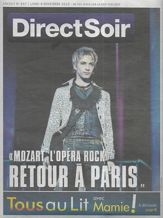 DIRECT SOIR n°847 08/11/2010 Mozart, l'opéra-rock/ James Blunt/ Design/ Concordiasi