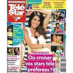 """TELE STAR n°2236 10/08/2019  Vacances: où croiser vos stars?/ """"Les feux de l'Amour""""/ James Bond/ Tintin"""