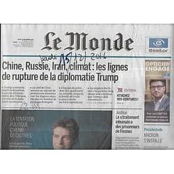 LE MONDE n°22370 15/12/2016  La diplomatie de Trump/ Henri de Castries/ Pronostics Présidentielle