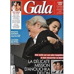 GALA n°1366 15/08/2019  Alain Delon & Anouchka/ Brigitte Macron/ Ursula Corbero/ Rob Lowe/ Roschdy Zem