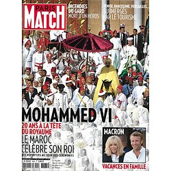 PARIS MATCH n°3665 08/08/2019  Mohammed VI/ Maroc/ Macron/ Google camp/ Saoirse Kennedy/ Invasion des touristes/ Incendies du Gard