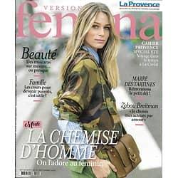 VERSION FEMINA n°908 26/08/2019  La chemise d'homme/ Zabou Breitman/ Petit déjeuner réinventé/ La Nouvelle-Orléans/ Cours pour parents
