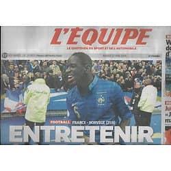 L'EQUIPE n°21863 27/05/2014  France-Norvège/ Sakho/ Roland-Garros/ Wawrinka/ Jules Bianchi/ Pierre Rolland