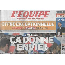 L'EQUIPE n°21864 28/05/2014  Les Bleus/ Equipe de France/ Mladenovic/ Limoges/ Quintana/ Chris Sharma
