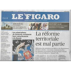LE FIGARO n°21699 13/05/2014  Réforme territoriale/ Baisses d'impôts/ Martial Raysse/ Boko Haram/Tchernobyl