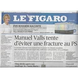 LE FIGARO n°21700 14/05/2014  Fracture PS & Valls/ Matteo Renzi/ Donbass/ Yémen/ D-Day/ Santa Maria/ Festival de Cannes
