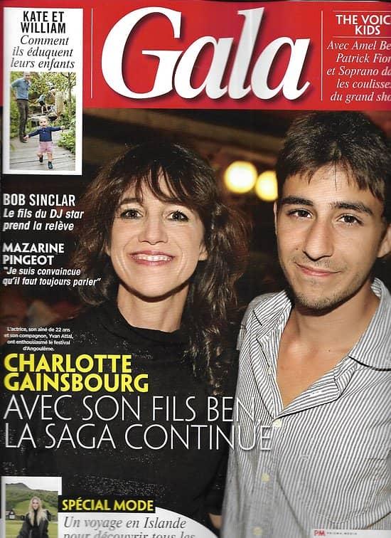 GALA n°1368 29/08/2019  Charlotte Gainsbourg & Ben/ Kate & William/ Mazarine Pingeot/ Bob Sinclar/ The Voice Kids/ Spécial mode