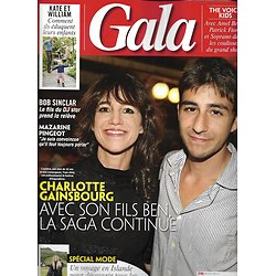 GALA n°1368 29/08/2019  Charlotte Gainsbourg & Ben/ Kate & William/ Mazarine Pingeot/ Bob Sinclar/ The Voice Kids/ Spécial mode