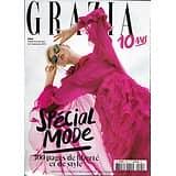 GRAZIA n°504 30/08/2019  Spécial mode/ Fendi/ 10 ans de Grazia/ Julien Dossena/ Céline Sciamma/ Monsieur Bonheur