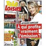 """TELE LOISIRS n°1749 07/09/2019  """"Affaire conclue"""" Sophie Davant/ Netflix/ Julia Vignali/ Foire aux vins"""