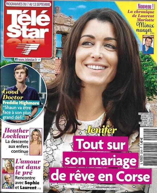 TELE STAR n°2240 07/09/2019  Jenifer/ Freddie Highmore/ Caterina Murino/ Xavier de Moulins/ Thierry Beccaro