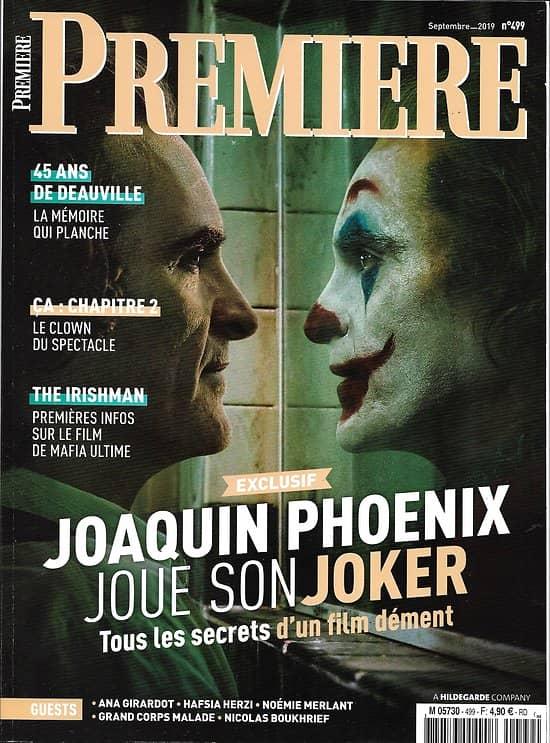 "PREMIERE n°499 septembre 2019  Joaquin Phoenix ""Joker""/ ""Irishman""/ Festival de Deauville/ ""ça: chap.2"""