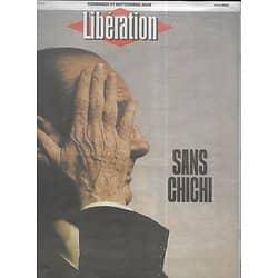 LIBERATION n°11917 27/09/2019  Jacques Chirac, sans chichi/ Rouen: explosion à l'usine Lubrizol/ Affaire Trump-Zelensky