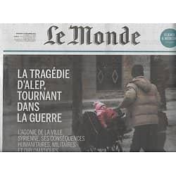 """LE MONDE n°22369 14/12/2016  La tragédie d'Alep/ """"Manchester by the sea""""/ Affaire Dépakine/Synchrotron Sesame"""