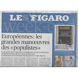 LE FIGARO n°23245 10/05/2019  Européennes & populistes/ Tribunal de Bobigny/ Uber/ Robert Wilson