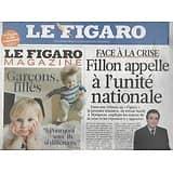 LE FIGARO n°20854 20/08/2011 La tribune de Fillon/ Les Kurdes bombardés en Irak/ Tablettes et PC/ Lagerfeld/ Disney/ Michel Delpech
