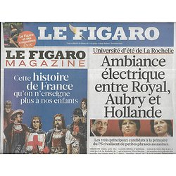 LE FIGARO n°20860 27/08/2011  Guerre au PS/ L'après-Kadhafi/ Emeutiers brittaniques/ Ouragan Irene/ Brel/ Lagerfeld/ Teddy Riner