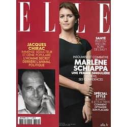 ELLE n°3850 04/10/2019  Jacques Chirac, l'homme secret/ Marlène Schiappa, une femme singulière/ A bord du Tara, mission microplastiques