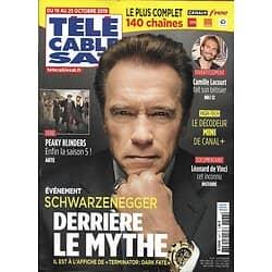 TELECABLE SAT n°1537 19/10/2019  Arnold Schwarzenegger/ Peaky Blinders/ Camille Lacourt/ Léonard de Vinci
