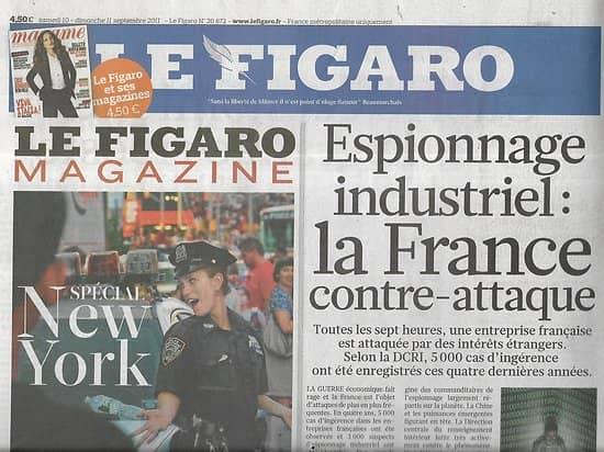 LE FIGARO n°20872 10/09/2011  Espionnage industriel/ 11 Septembre/ Crise à la BCE/ Actrices & réalisatrices au pouvoir/ Opéra de Versailles