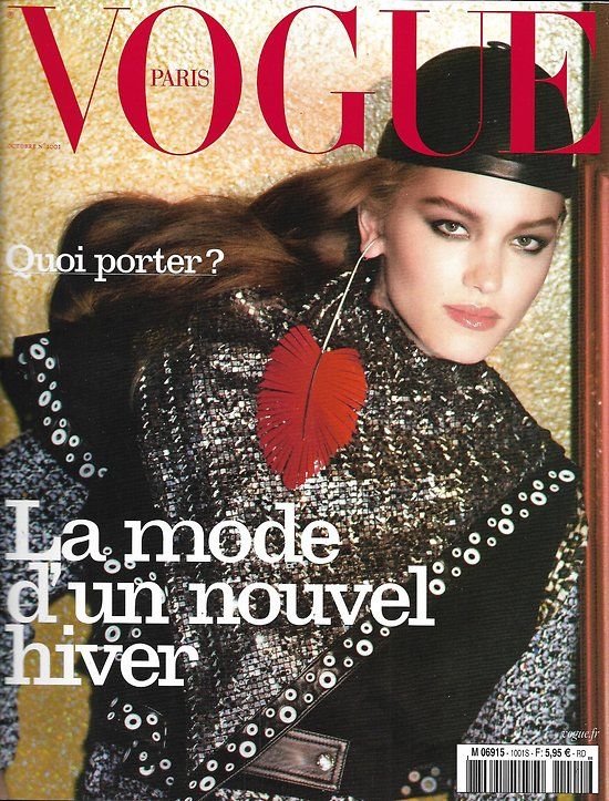 VOGUE n°1001 octobre 2019  La mode d'un nouvel hiver/ Laurijn Bijnen/ Anja Rubik/ Nicolas Ghesquière/ Nicolas Bedos/ François Halard