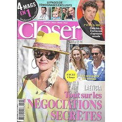 CLOSER n°749 18/10/2019  Laeticia Hallyday/ Patrick Bruel/ Liam Hemsworth/ Lily Allen & David Harbour/ Alyssa Milano