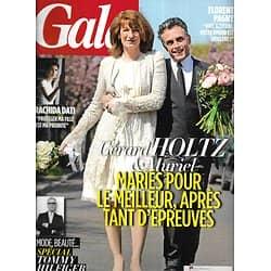 GALA n°1038 01/05/2013  Gérard Holtz & Muriel/ Spécial Tommy Hilfiger/ Rachida Dati/ Florent Pagny
