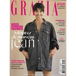 GRAZIA n°512 25/10/2019  Zita Hanrot/ Spécial jean/ Ronan Farrow/ Huîtres/ Léonard de Vinci/ Spécial cheveux