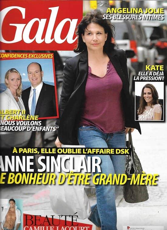 GALA n°940 15/06/2011  Anne Sinclair/ Kate Middleton/ Lacourt/ Charlène/ A.Jolie
