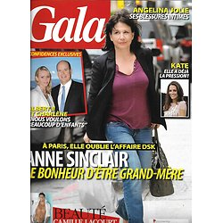 GALA n°940 15/06/2011  Anne Sinclair/ Kate Middleton/ Lacourt/ Charlène/ A.Jolie