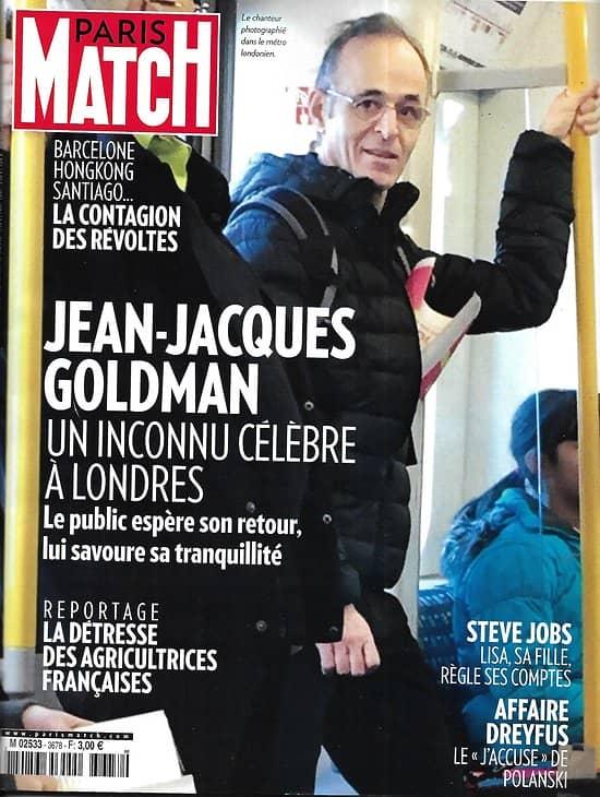 PARIS MATCH n°3678 31/10/2019  Goldman à Londres/ Mort d'Al-Baghdadi/ Contagion des révoltes/ Agricultrices, les mal-aimées/ Dans les draps des Stones