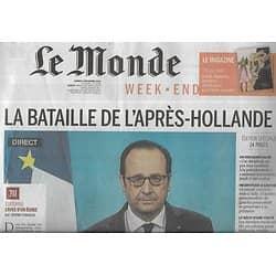 LE MONDE n°22360 03/12/2016  La bataille de l'après-Hollande/ Matteo Renzi/ Valbuena/ La leçon de Calais