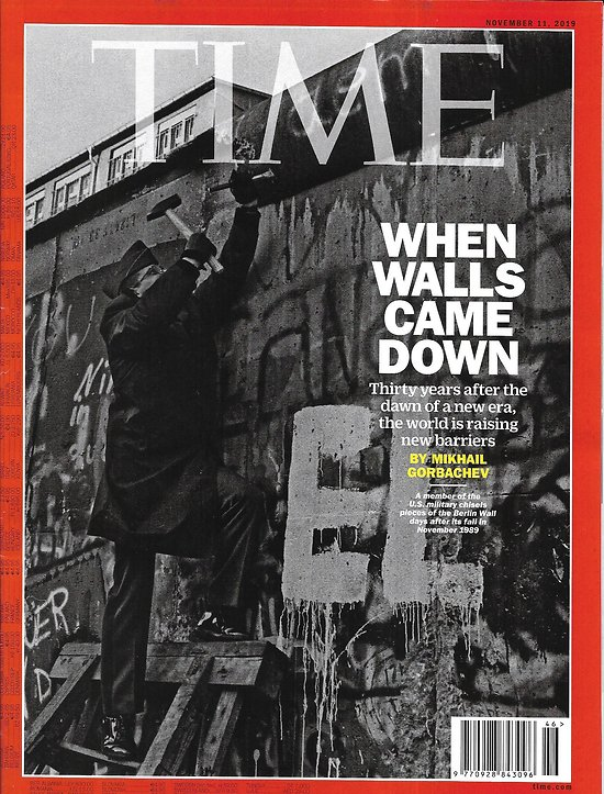 "TIME VOL.194 n°20 11/11/2019  When Berlin Wall came down/ Giuliani & Trump/ Financial therapy/ ""The Irishman"""
