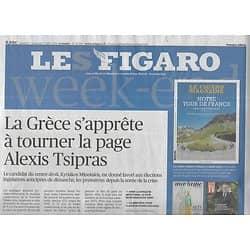 LE FIGARO n°23294 06/07/2019  Grèce: fin de Tsipras/ Applis nutritionnelles/ Tour de France/ Fendi/ Rodin & Maillol