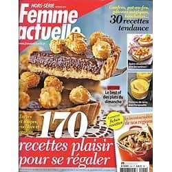 FEMME ACTUELLE n°55H février 2015  170 recettes plaisir/ Plats du dimanche/ Recettes d'hiver/ Douceurs de Mardi Gras