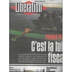 LIBERATION n°10845 05/04/2016  Panama Papers/ Répression dans le Kurdistan turc/ Forum des Halles/ LCI/ Matana Roberts