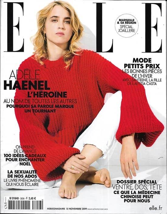 ELLE n°3856 15/11/2019  Adèle Haenel/ Shateene Sednaoui/ Sexualité des ados/ Pollution en Méditerranée