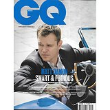 GQ n°135 novembre 2019  Matt Damon, smart & furious/ Nicolas Hulot y croit encore/ Ancien mafieux repenti/ Montres vintage