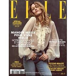 ELLE n°3857 22/11/2019  Vanessa Paradis/ Manger mieux pour vivre mieux/ Spécial joaillerie/ Elisabeth Badinter