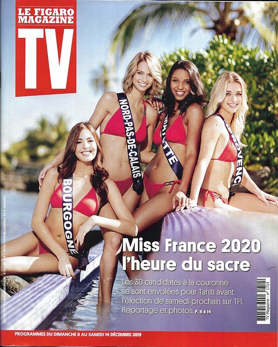 TV MAGAZINE 08/12/2019 n°1714  Miss France 2020/ Lignac vs JF Piège/ I.Gélinas/ Pawn Stars