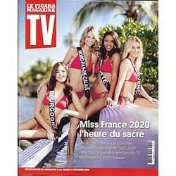 TV MAGAZINE 08/12/2019 n°1714  Miss France 2020/ Lignac vs JF Piège/ I.Gélinas/ Pawn Stars