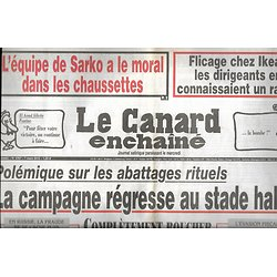 LE CANARD ENCHAINE n°4767 07/03/2012  Polémique sur les abattages rituels/ Flicage chez Ikéa