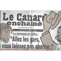 LE CANARD ENCHAINE n°4916 14/01/2015  Le message de Cabu/ Je suis Charlie/ Numéro hommage