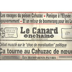 LE CANARD ENCHAINE n°4824 10/04/2013  Le choc de moralisation démoralise/ Le poison Cahuzac