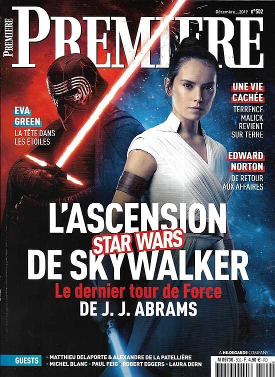 """PREMIERE n°502 décembre 2019  """"Stars Wars: l'Ascension de Skywalker""""/ Eva Green/ """"Une vie cachée"""" Malick/ Edward Norton"""
