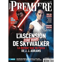 "PREMIERE n°502 décembre 2019  ""Stars Wars: l'Ascension de Skywalker""/ Eva Green/ ""Une vie cachée"" Malick/ Edward Norton"