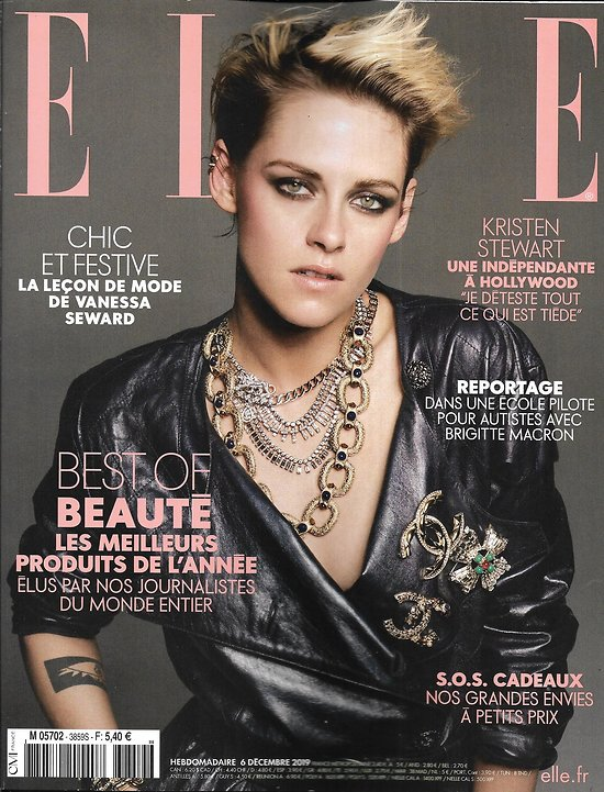 ELLE n°3859 06/12/2019  Kristen Stewart is the queen/ Brigitte Macron en classe avec les autistes/ Adèle Van Reeth/ Benoît Magimel