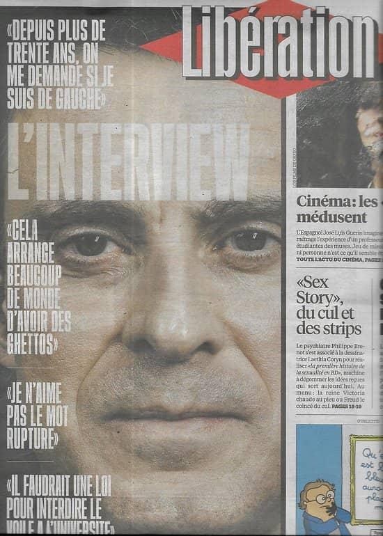 LIBERATION n°10852 13/04/2016  Manuel Valls, l'Interview/ Islandais révoltés/ Duel Solère & Guéant/ Lassana Bathily