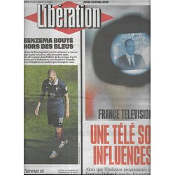 LIBERATION n°10853 14/04/2016  France Télévisions/ Benzema/ Lanceurs d'alerte/ Les gradés s'expriment/ William Sheller
