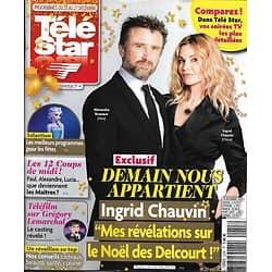 """TELE STAR n°2255 21/12/2019  Ingrid Chauvin & Alexandre Brasseur """"Demain nous appartient""""/ Grégory Lemarchal/ Timothy Dalton"""